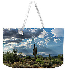 Weekender Tote Bag featuring the photograph A Summer Day In The Sonoran  by Saija Lehtonen