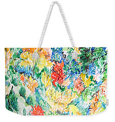 A Summer Garden Frolic Weekender Tote Bag by Esther Newman-Cohen