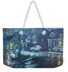 A Summer Rainy Night Weekender Tote Bag by Ylli Haruni