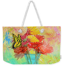 A Summer Time Bouquet Weekender Tote Bag by Diane Schuster