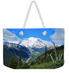 Weekender Tote Bag featuring the photograph A Summer View Of The Mountain  by Lynn Hopwood