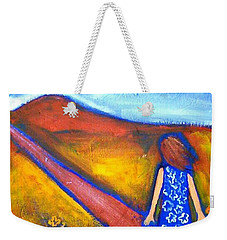 Weekender Tote Bag featuring the painting A Sunny Path by Winsome Gunning