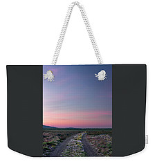 Weekender Tote Bag featuring the photograph A Sunrise Path by Leland D Howard