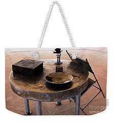 A Table Set For A Soldier In War Weekender Tote Bag by Natalie Ortiz
