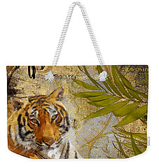 A Taste Of Africa Tiger Weekender Tote Bag by Mindy Sommers