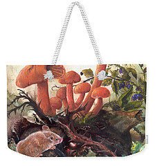 Weekender Tote Bag featuring the painting A Thorny Situation by Sherry Shipley