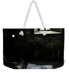 Weekender Tote Bag featuring the photograph A Tombstone In Sligo Abbey by RicardMN Photography