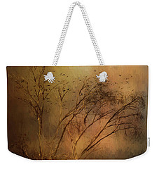 Weekender Tote Bag featuring the digital art A Touch Of Autumn by Nicole Wilde