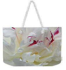 Weekender Tote Bag featuring the photograph A Touch Of Color by Sandy Keeton