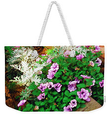 Weekender Tote Bag featuring the painting A Touch Of Nature by Sandy MacGowan
