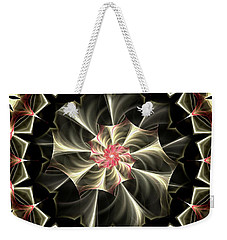 Weekender Tote Bag featuring the digital art A Touch Of Pink by Lea Wiggins