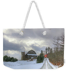 A Touch Of Snow Weekender Tote Bag
