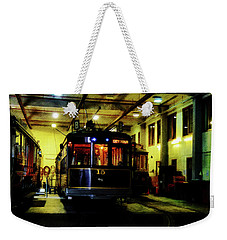 Weekender Tote Bag featuring the photograph A Tram I Am by Steve Taylor
