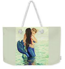 Weekender Tote Bag featuring the painting A Treasured Love by Leslie Allen
