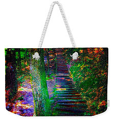 Weekender Tote Bag featuring the photograph A Trek by Iowan Stone-Flowers