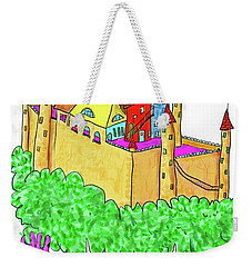 A Troll And Her Castle Weekender Tote Bag