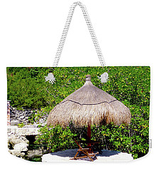 Weekender Tote Bag featuring the photograph A Tropical Place To Relax by Francesca Mackenney