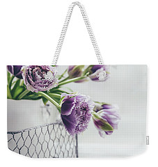 Weekender Tote Bag featuring the photograph A Tulip Moment by Kim Hojnacki