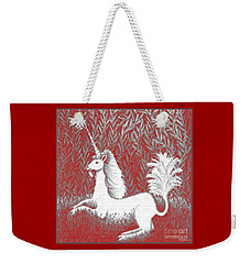 A Unicorn In Moonlight Tapestry Weekender Tote Bag
