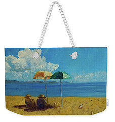 Weekender Tote Bag featuring the painting A Vacant Lot - Byron Bay by Paul McKey
