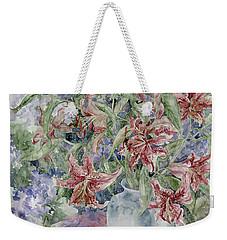 A Vase Of Lilies Weekender Tote Bag by Kim Tran