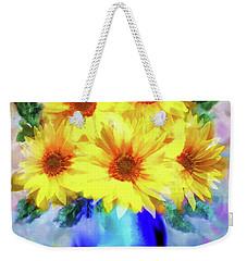 A Vase Of Sunflowers Weekender Tote Bag