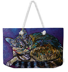 A Very Colorful Cat Weekender Tote Bag