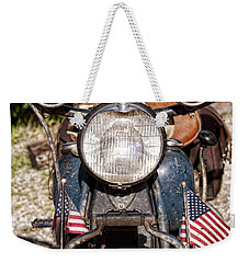 A Very Old Indian Harley-davidson Weekender Tote Bag