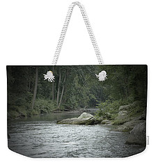 A View Downstream Weekender Tote Bag by Donald C Morgan