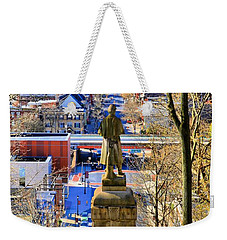 Weekender Tote Bag featuring the photograph A View From College Hill by DJ Florek