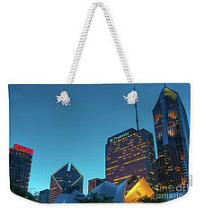 A View From Millenium Park Weekender Tote Bag