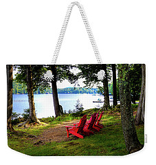 Weekender Tote Bag featuring the photograph A View Of Big Moose Lake by David Patterson