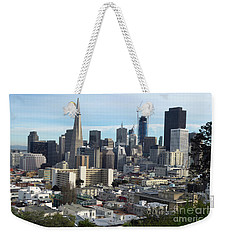 A View Of Downtown From Nob Hill Weekender Tote Bag