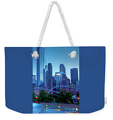 A View Of Millenium Park From The Amoco Bridge In Chicago At Dus Weekender Tote Bag
