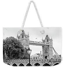 Weekender Tote Bag featuring the photograph A View Of Tower Bridge by Joe Winkler