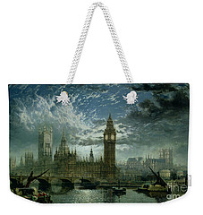 A View Of Westminster Abbey And The Houses Of Parliament Weekender Tote Bag by John MacVicar Anderson