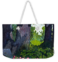 A View Through The Trees Watercolor Batik Weekender Tote Bag