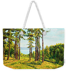 A View To The Lake Weekender Tote Bag