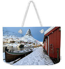 A Village Lofoten Weekender Tote Bag by Dubi Roman