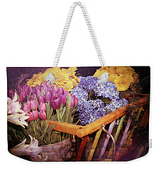 A Wagon Full Of Spring Weekender Tote Bag by Patrice Zinck