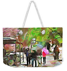 A Walk In The Rain Weekender Tote Bag