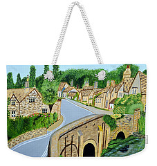 A Walk Through A Village In The English Cotswolds Weekender Tote Bag