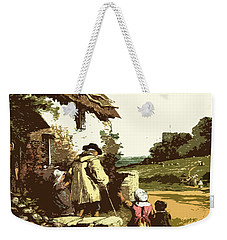 Weekender Tote Bag featuring the drawing A Walk With The Grand Kids by Digital Art Cafe