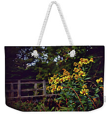 Weekender Tote Bag featuring the photograph A Walk With Wildflowers by Jessica Brawley