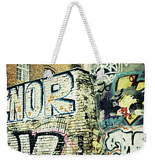 A Wall Of Berlin With Graffiti Weekender Tote Bag