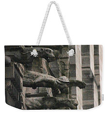 A Wall Of Gargoyles Notre Dame Cathedral Weekender Tote Bag