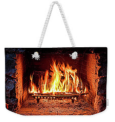 A Warm Hearth Weekender Tote Bag
