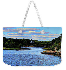 Weekender Tote Bag featuring the photograph A Water View Newport Ri by Tom Prendergast