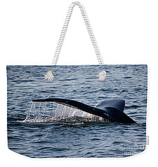 A Whale Tail Weekender Tote Bag by Suzanne Luft