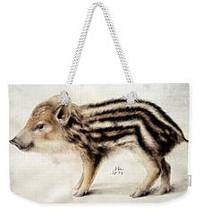 A Wild Boar Piglet Weekender Tote Bag by Hans Hoffmann